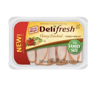 Oscar Mayer Lunch Meat Cold Cuts Deli Fresh Honey Smiked Turkey Breast