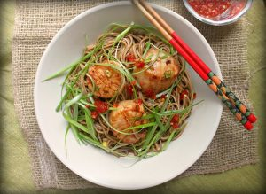 Soy Citrus Scallops with Soba Noodles Recipe