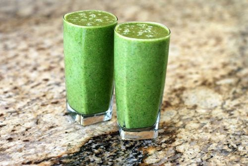 Minty Green Apple Green Smoothie from sweettreatsmore.com