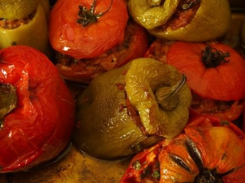Stuffed Peppers with Wild Rice