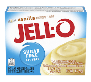 JELL-O Vanilla Sugar Free Instant Pudding & Pie Filling Mix