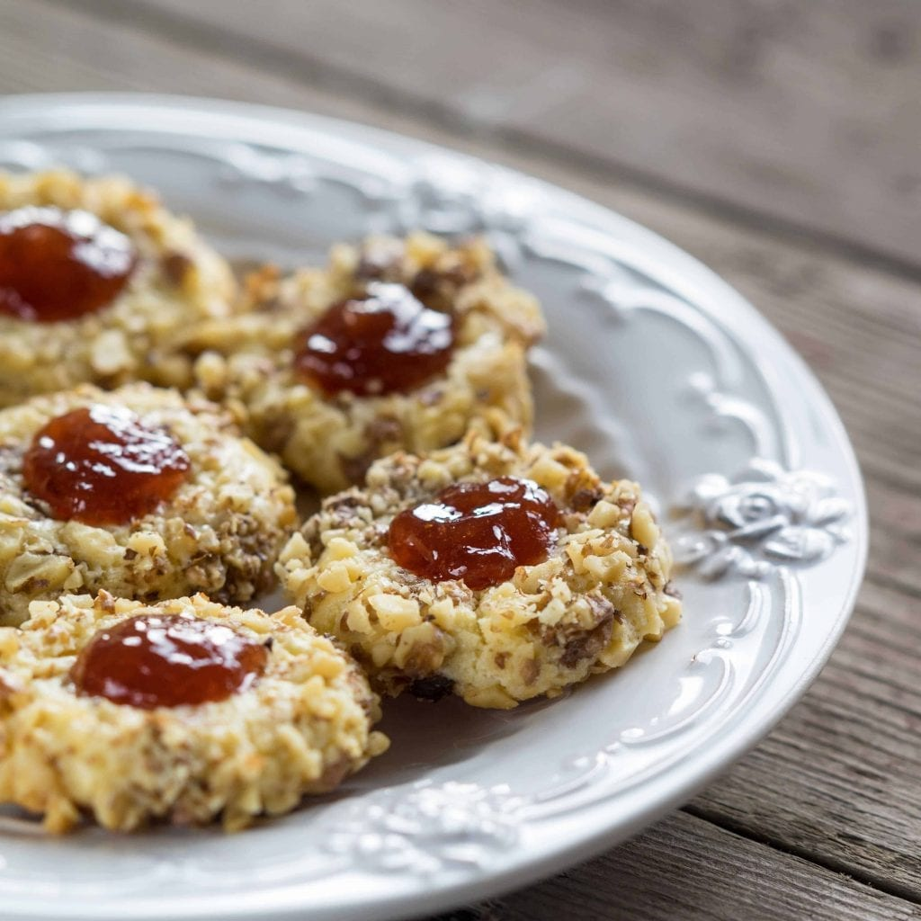 Thumbprint Cookies with Rose Jelly Recipe