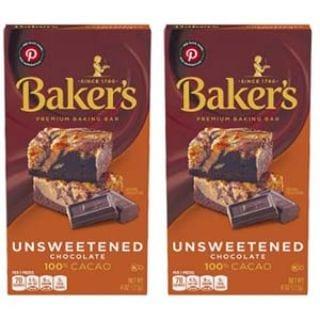 Baker's Unsweetened Baking Chocolate Bar