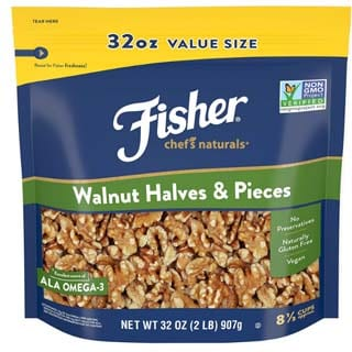 Fisher Chef's Naturals Walnut Halves & Pieces