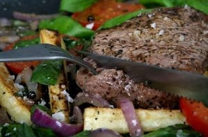 Warm Beef and Herb Salad Recipe