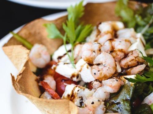 seafood tortilla bowl