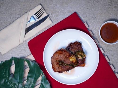 Round Eye Steak, Juicy Meat, Pan-seared Meat, Beef Eye, American Cuisine