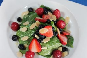 Red White and Blue Spinach Salad Recipe