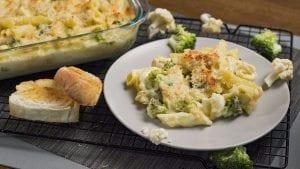 Broccoli Cauliflower Cheesy Pasta Bake Recipe