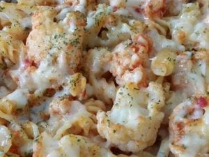 Broccoli Cauliflower Cheesy Pasta Bake Recipe