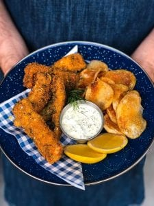 Buffalo-Style Catfish Strips with Ranch Dressing Recipe