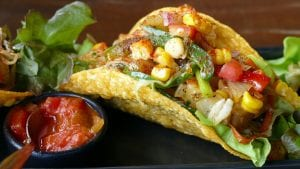 Chicken Tacos with Fresh Corn Salsa Recipe