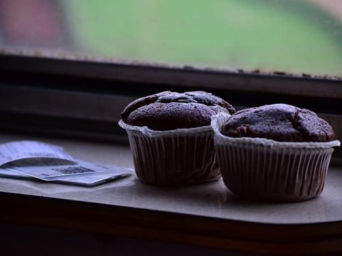 sweet double chocolate muffins