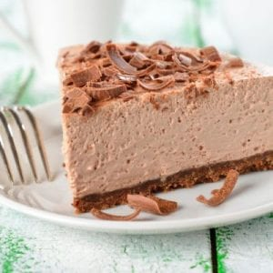 Easy, 3-Step No-Bake Chocolate Cheesecake Recipe