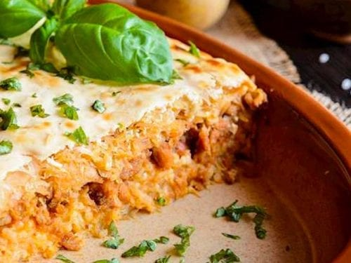 layered cabbage with ground beef