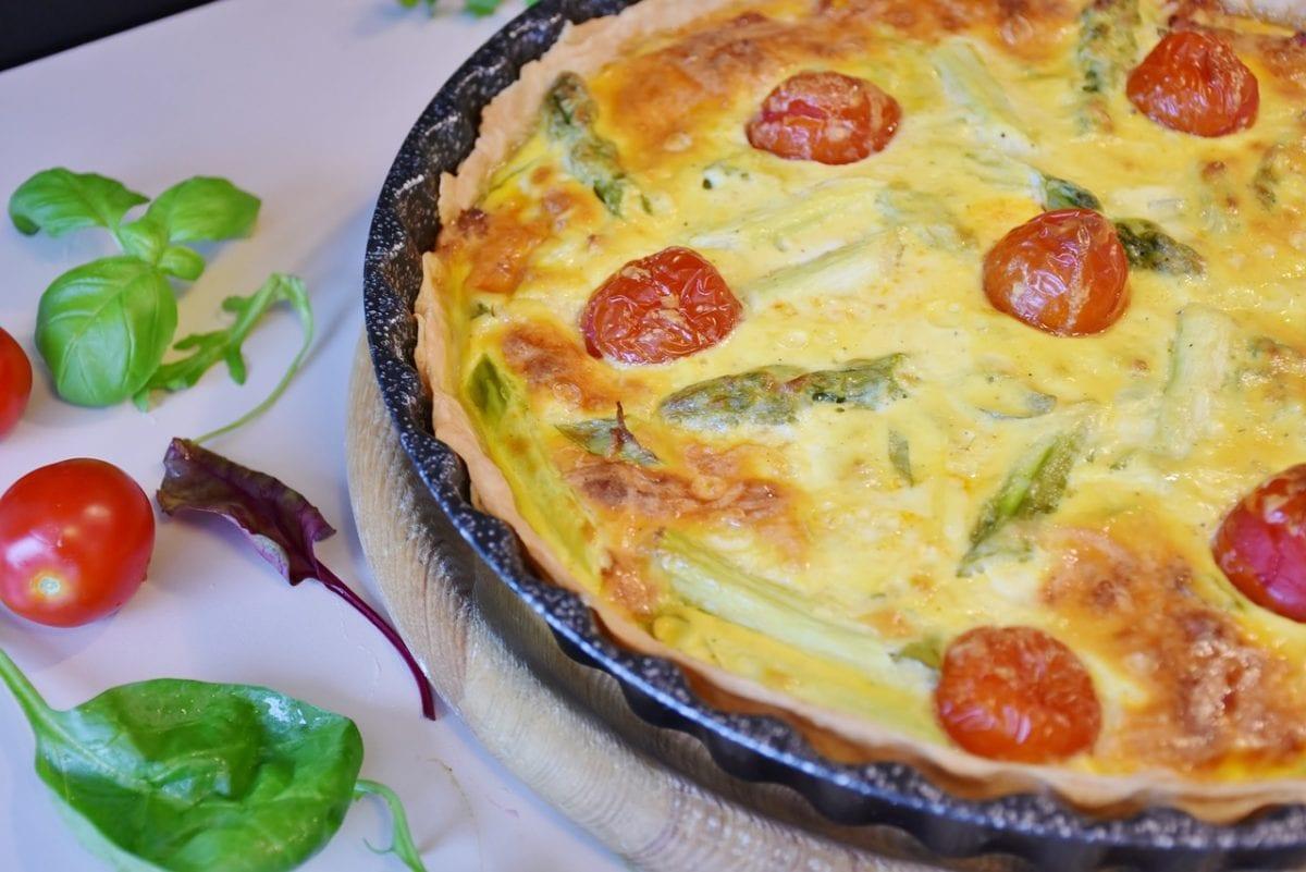 Mushroom and Tomato Quiche Recipe