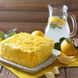 No-Bake Lemon Cake with Lemon Zest Frosting Recipe