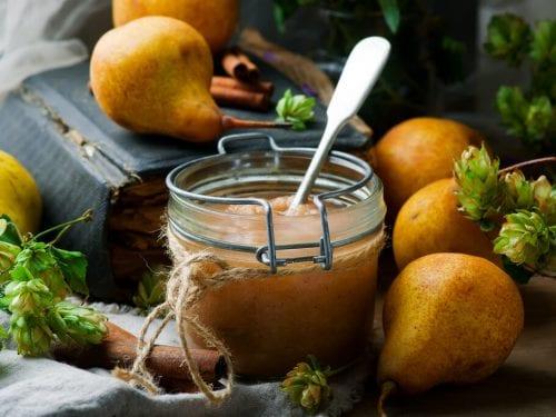 Pear Butter Recipe, easy crock pot pear butter recipe with cinnamon