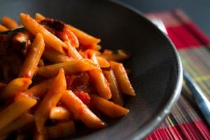 Garlic Penne Pasta with Tomato Vodka Sauce Recipe