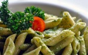 Pesto Pasta with Feta and Tomato Recipe
