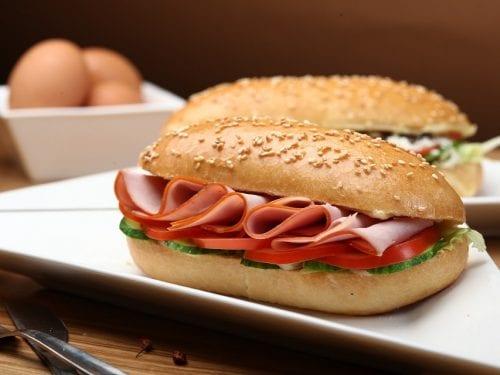 Prosciutto on Ciabatta Recipe- delicious ciabatta roll breakfast sandwich with prosciutto