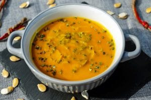 Roasted Pumpkin and Sweet Potato Soup with White Truffle Oil Recipe