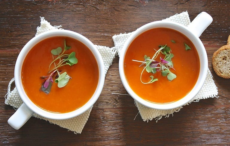 Sweet Potato Bisque with Clementines and Sage Recipe
