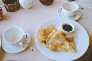 Thin Stack Pancakes with Powdered Sugar Recipe