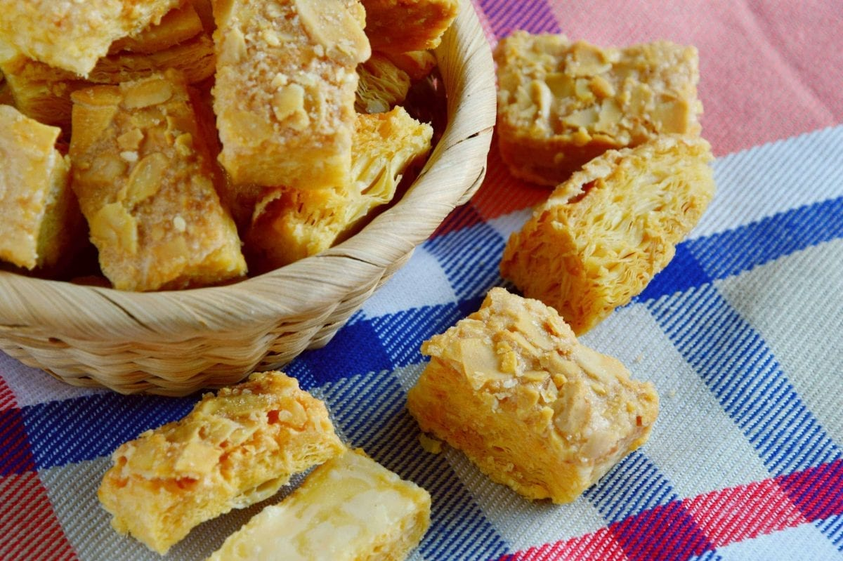 almond flaky pastry squares