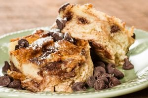 Amazing Crockpot Chocolate Chip Bread Pudding Recipe