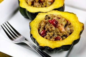 Apple and Cranberry Stuffed Acorn Squash Recipe
