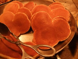 Apple Cinnamon Mickey Mouse Pancakes Recipe