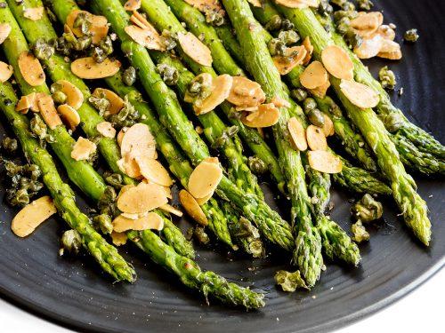 healthy asparagus almandine