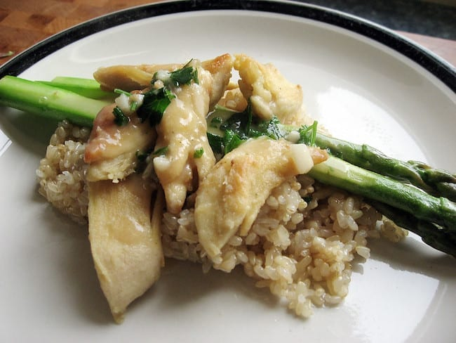 Asparagus, Chicken and Wild Rice Casserole Recipe