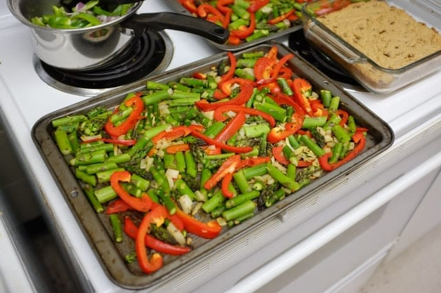 Asparagus with Roasted Peppers and Olives Recipe