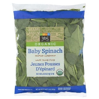 365 Everyday Value, Organic Baby Spinach