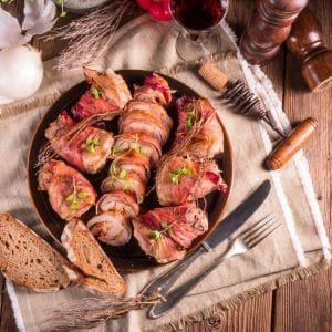 Bacon Wrapped Stuffed Pork Tenderloin Recipe