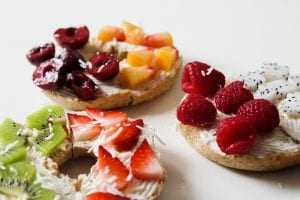 Bagel Fruit Sandwiches Recipe