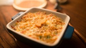 Baked Chicken, Mushroom and Carrot Rice Casserole Recipe