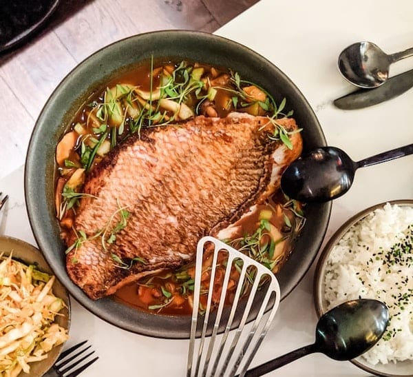 baked fish with creole sauce