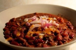 Beef and Pork Chipotle Chili with Beans Recipe