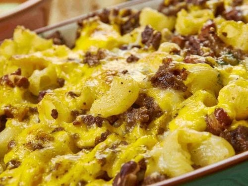 beef taco macaroni casserole