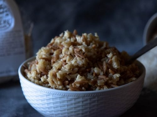 beefy rice salad