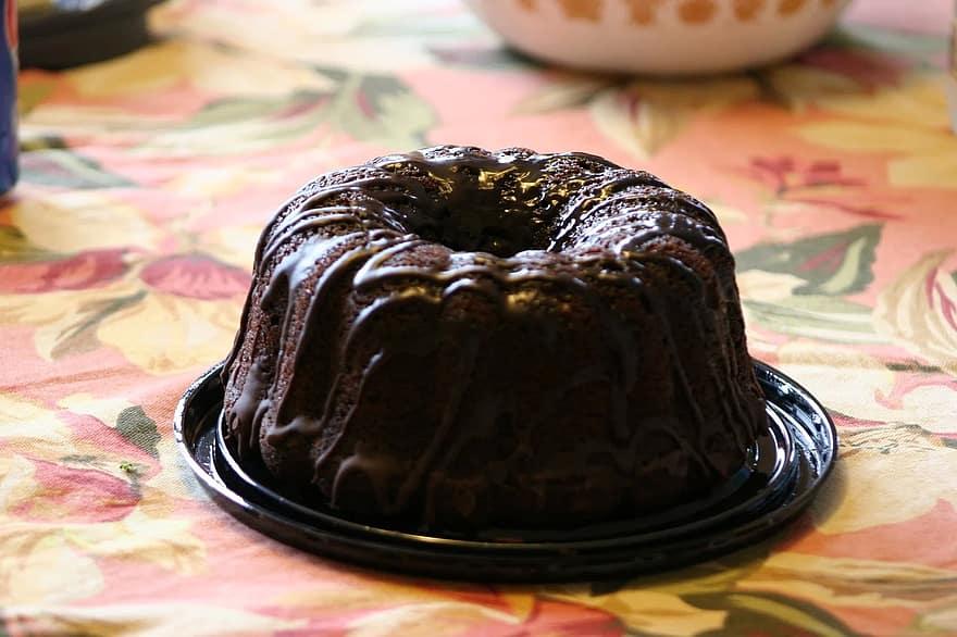 Black Magic Cake Recipe - Hershey inspired dessert coffee flavored moist chocolate bundt cake with chocolate frosting