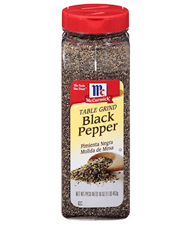 McCormick Table Ground Black Pepper