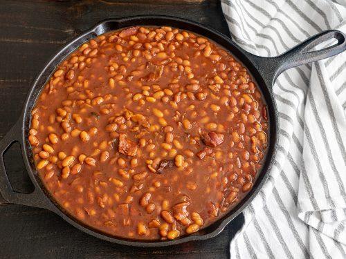 delicious baked bourbon beans