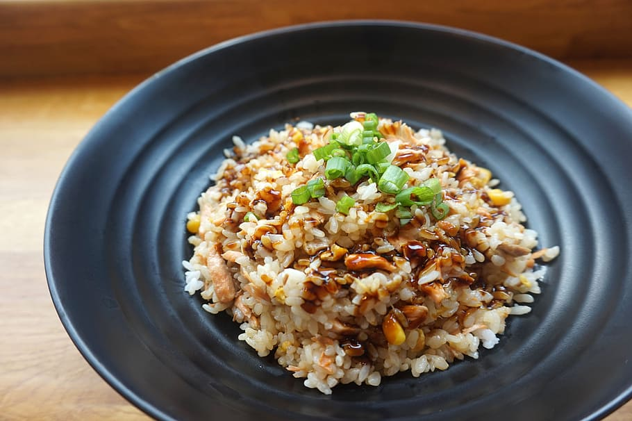 delicious brown rice and chicken