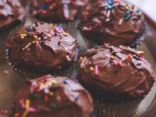 sweet brownie candy cupcakes
