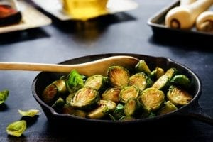 Brussel Sprouts with Cream Cheese, Toasted Almonds and Nutmeg Recipe