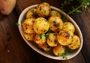 Buttery Mint Potatoes Recipe